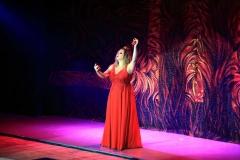 Concierto en el Teatro de Stupino (Rusia) en el Festival La Plata Mar Bezana castañuelas - Marzo 2019