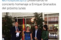 Uruguay Rueda de prensa Mar Bezana castañuelas en la Embajada de España en Montevideo (Uruguay)