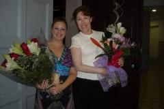 Mar Bezana con Laura Mas prestigiosa profesora y bailarina de Danza Clásica