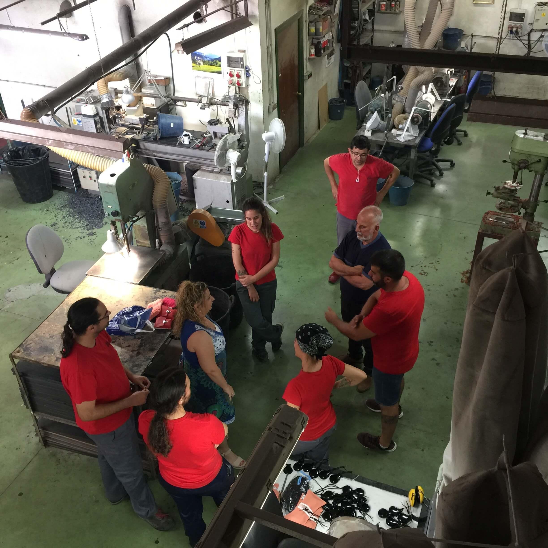 Mar Bezana visita la fábrica de Castañuelas del Sur - Junio 2018