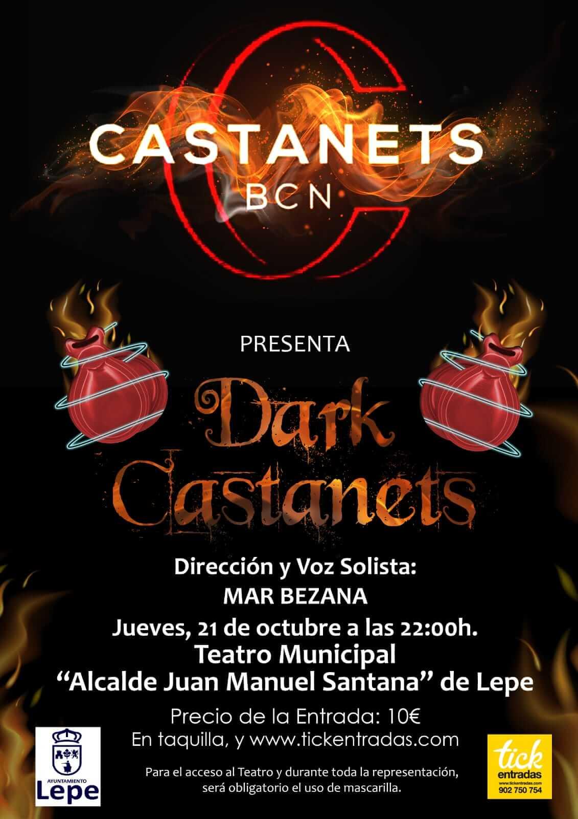 Concierto DARK CASTANETS de CASTANETS BCN en el Teatro Municipal de Lepe